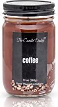 Coffee Scented Jar Candle- 10 Ounce - Up to 80 Hour Burn- Hand Poured in Indiana