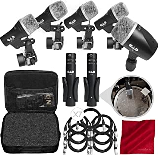 CAD Audio Stage 7 Drum Microphone Pack Bundled with XLR Cables and Microfiber Cloth