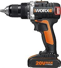 WORX WX175 drill Negro, Naranja 1,55 kg - Taladro eléctrico (1,3 cm, 4 cm, 60 Nm, 600 RPM, 2000 RPM, Batería)