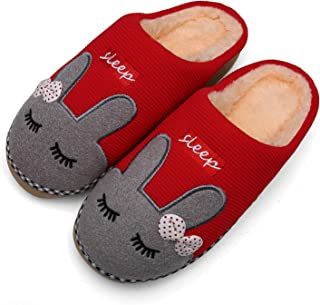 Mens Womens Comfortable Fleece Memory Foam House Slippers Warm Fur Lined Indoor Shoes