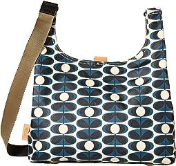 8eaf99e36e Orla Kiely. Embossed Flower Leather Small Zip Messenger.  321. Midi Sling  Bag