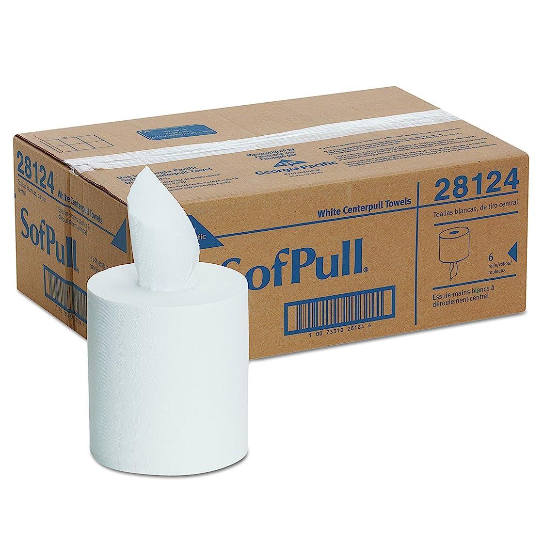 パンツ植物学者悲しむSofPull Centerpull Regular容量紙タオルby GP Pro、ホワイト、28124、320?Sheets Per Roll、6ロール1ケース(1ケース)