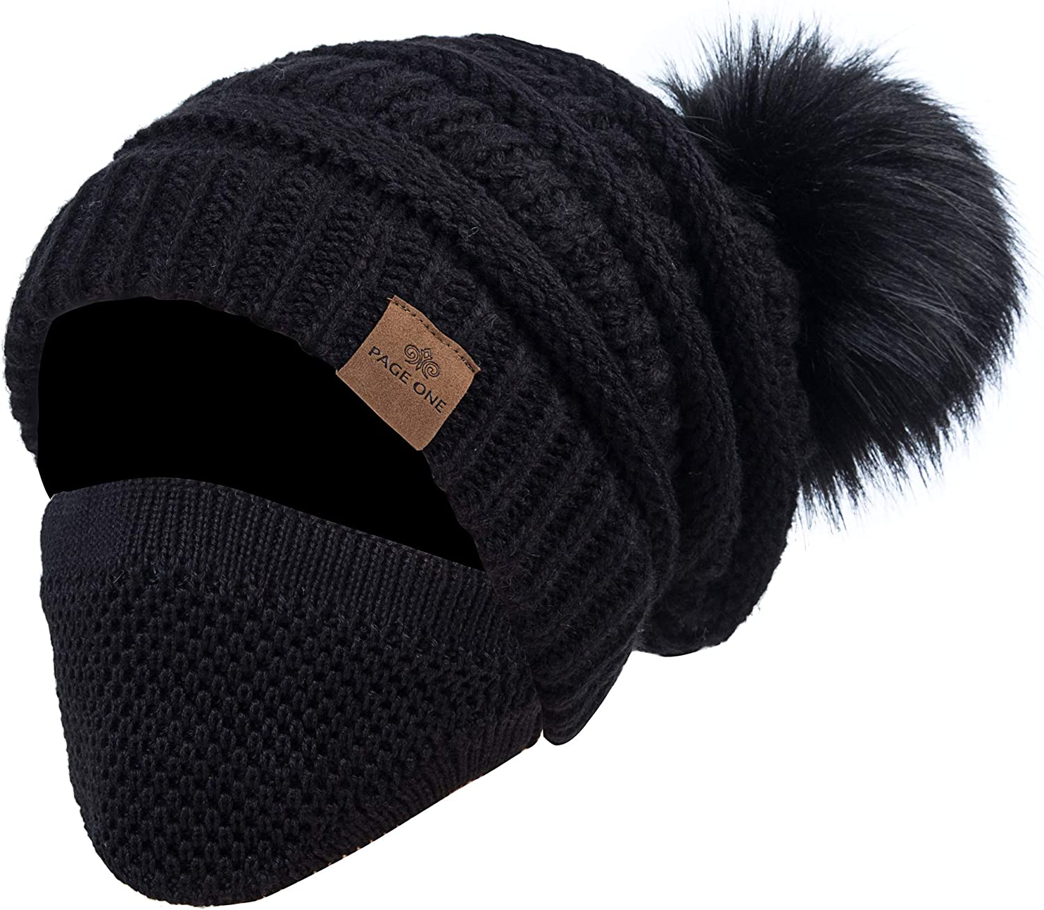 PAGE ONE Womens Fleece Lined Slouchy Baggy In a popularity Chunky Fur High quality new Hat Beanie