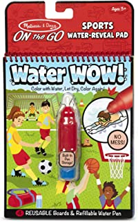 Melissa & Doug 30175 On The Go Water Wow! Sports Activity Pad (Reusable Water-Reveal Coloring Book, Refillable Water Pen)