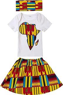 Baby Girl African Print Clothing Ankara Skirt Top Set