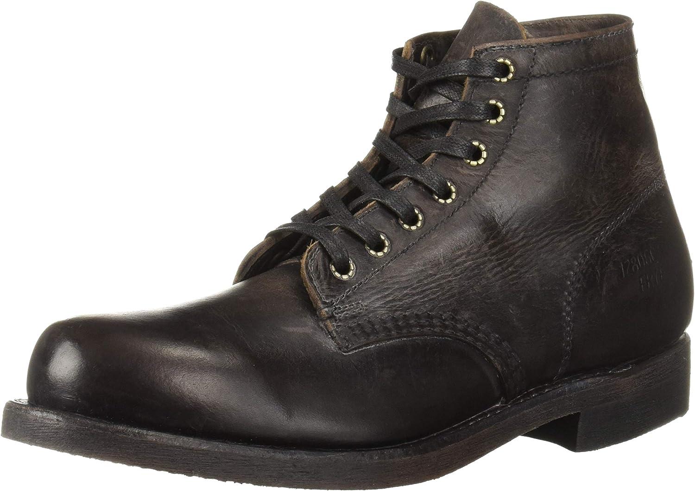 FRYE Men's Prison Fashion Boot, Dark Brown, 8.5 M