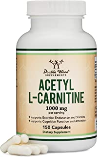 Acetyl L Carnitine (150 Capsules, 75 Day Supply) 1,000mg ALCAR for Brain Function..