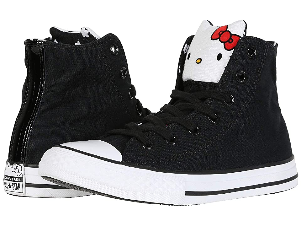 Converse Kids Hello Kitty(r) Chuck Taylor(r) All Star(r) Hi (Little Kid) (Black/Fiery Red/White) Girl