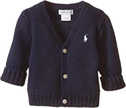 Ralph Lauren Baby Combed Cotton V-Neck Sweater (Infant)