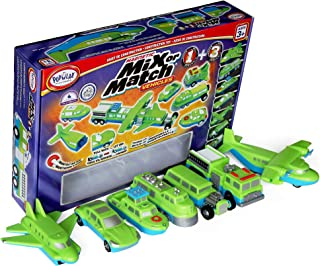 POPULAR PLAYTHINGS Mix or Match Vehicles 1 & 3 Giant Combo Magnetic Toy Play Set, Air, Land and Sea Vehicles (60311)