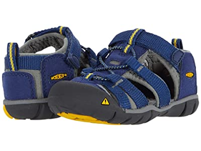 KEEN Kids Seacamp II CNX (Toddler) (Blue Depths/Gargoyle) Boys Shoes