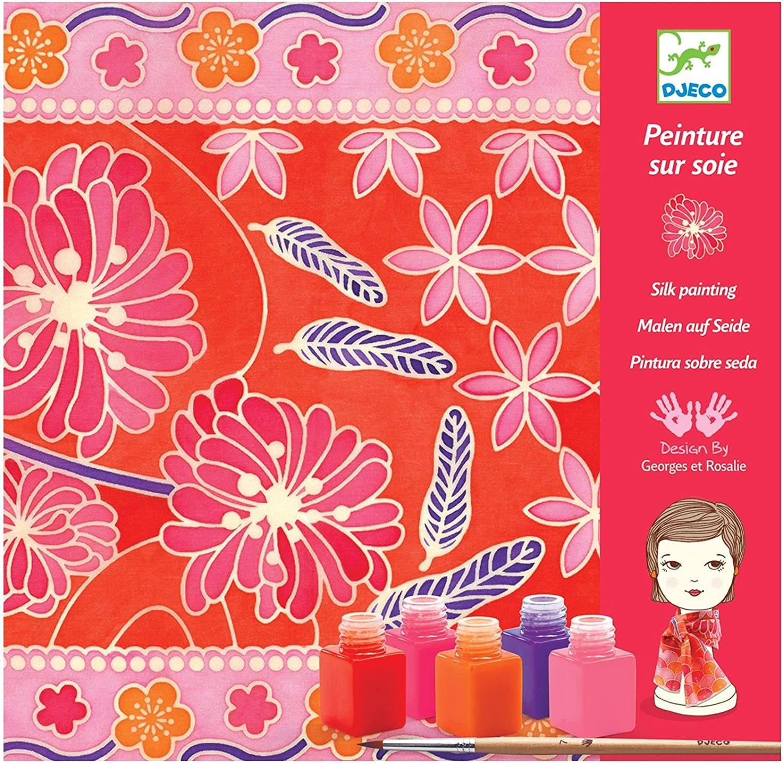 DJECO Japanese Garden Silk Scarf Milwaukee Mall Milwaukee Mall Kit Painting