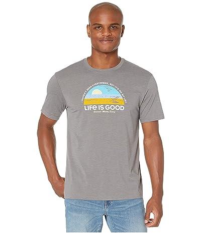 Life is Good Beach List Cool Teetm (Slate Gray) Men