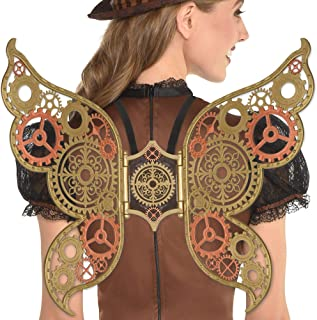 amscan Steampunk Wings Halloween Costume Accessories for Women, One Size