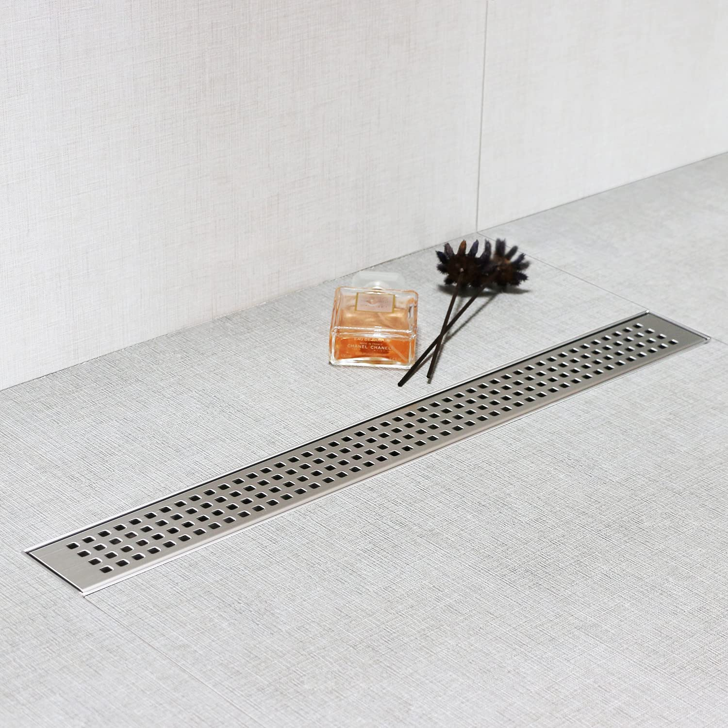 Excellent SaniteModar Linear Shower Drain 48 Ho Removable with Square Max 84% OFF inch
