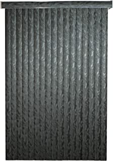 Black Frisco Textured Vinyl Vertical Blinds with 3-1/2