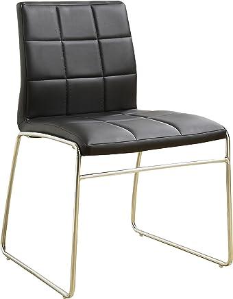247SHOPATHOME IDF-8320BK-SC Dining-Chairs Black