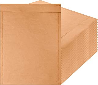 Amiff Natural Kraft bubble mailers 9.5 x 13 Brown Padded envelopes 9 1/2 x 13. Pack of 20 Kraft Paper cushion envelopes. Exterior size 10.5 x 14 (10 1/2 x 14). Peel & Seal. Mailing, packing.