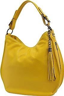 AmbraModa Italiensche Damenhandtasche Schultertasche Hobo Bag aus Echtleder GL027