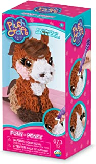 "The Orb Factory Pony 3D Arts & Crafts, Brown/Beige/White/Pink, 5"" x 4"" x 10"""