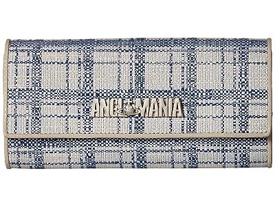 Vivienne Westwood Kelly Long Wallet (Blue) Wallet Handbags