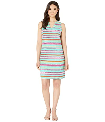 Hatley Portia Sheath Dress (Textured Stripes Blue) Women
