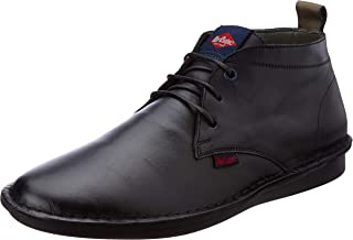 Lee Cooper Men's Lc1274ablack Leather Boat Shoes