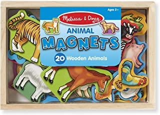 Melissa & Doug 20 Wooden Animal Magnets in a Box