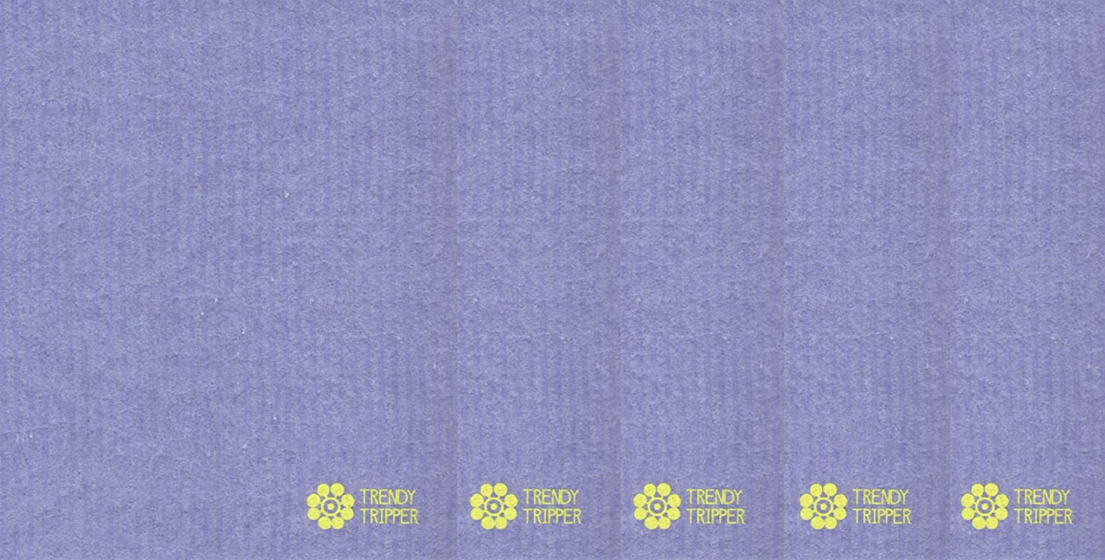 Trendy Tripper Swedish Dishcloths Reusable Set Of 5 Mixed Solid Colors FIVE 5 PURPLE