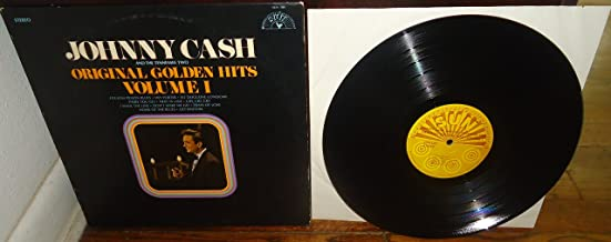 Johnny Cash and The Tennessee Two - Golden Hits Volume I Compilation LP - Original Vinyl Record - Catalog # Sun 100 - Sun Record Company - Folosom Prison Rock N Roll - OOP RARE - 1969