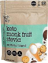 HighKey Monk Fruit, Stevia, Erythritol Sweetener 2:1 Blend – Keto, Diabetic & Paleo Friendly – Granulated, Low Calorie, No Carb Natural Sugar Substitute – Non GMO, Vegan, Kosher, Non Glycemic 16 oz
