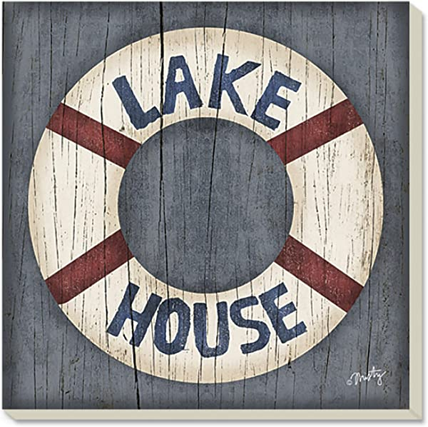 CounterArt Lake House Life Preserver Absorbent Coasters Set Of 4