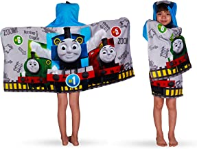 """Franco Kids Bath and Beach Soft Cotton Terry Hooded Towel Wrap, 24"""" x 50"""", Thomas and Friends,HH4718"""