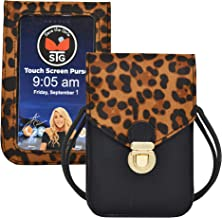Touch Screen Purse by Lori Greiner Fits Most Smartphones – Stylish Crossbody with Shoulder Strap -RFID Keeps Cash, Credit Cards, Phone Screens Safe- Leopard