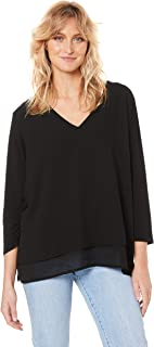 French Connection Women's Spliced V Neck TOP