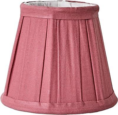 Better & Best 0201129–écran de lampe de coton, avec pince de fixation pour ampoules type bougie, de 12cm, table large, Couleur FRAISE