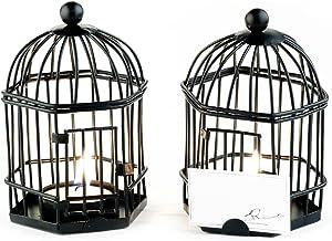 Kate Aspen 14055BK Birdcage Tealight and Placecard Holder