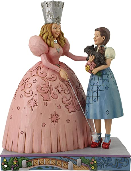 Enesco Wizard Of Oz By Jim Shore Glinda And Dorothy With Ruby Slippers Figurine