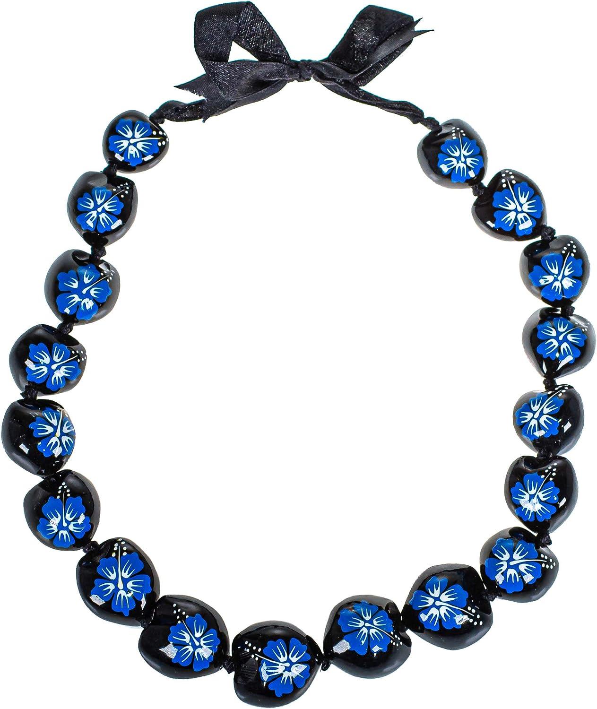 BlueRica Painted Flower Kukui Necklace