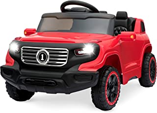 Best Choice Products 6V Kids Ride On Car Truck w/ Parent Control, 3 Speeds, LED Headlights, MP3 Player, Horn - Red