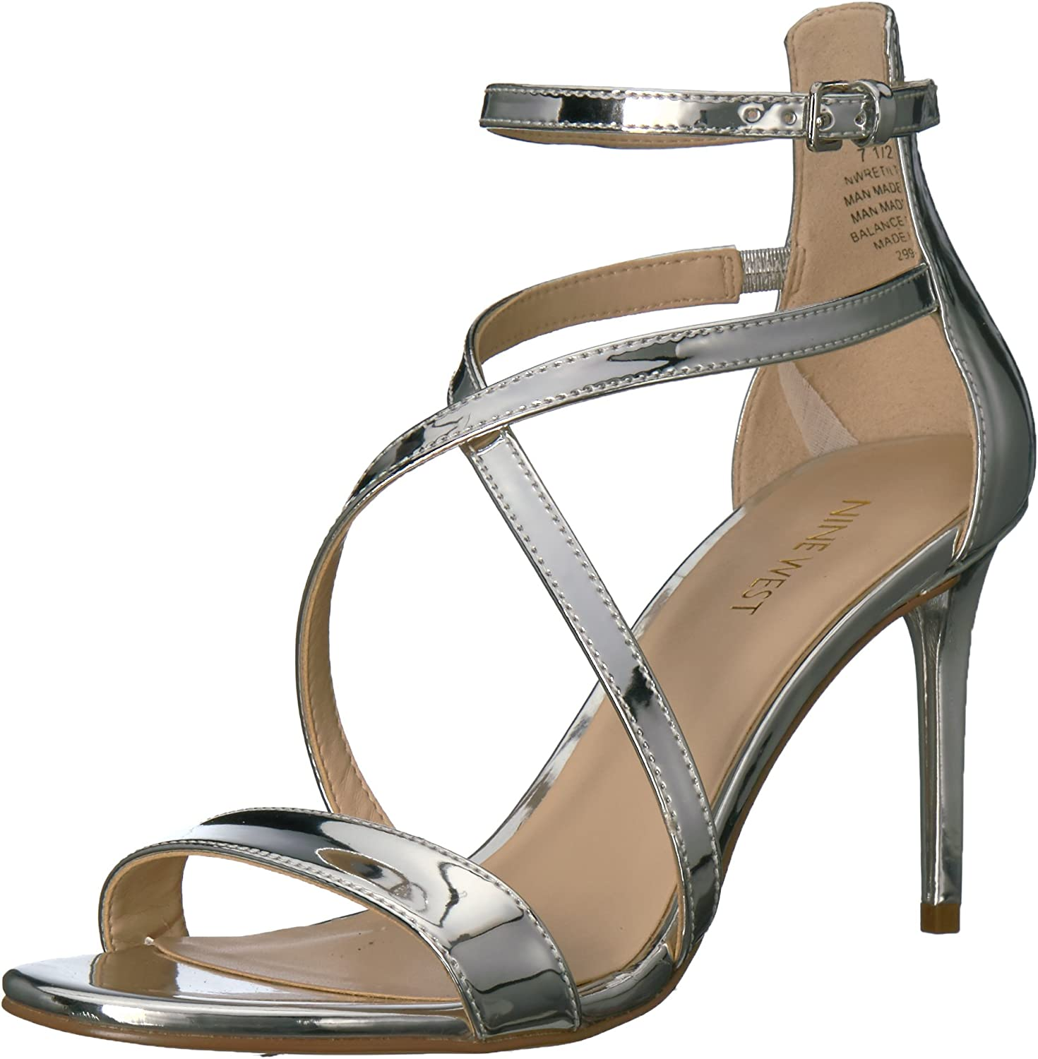 Nine West Womens RETILTHRPY Patent Sandal