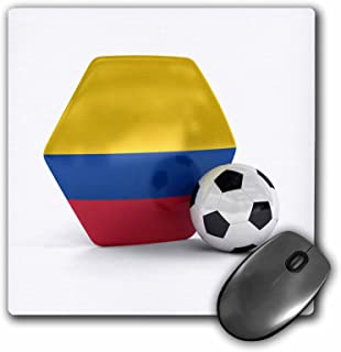 "3D 玫瑰哑光鼠标垫 - 8 x 8 Colombia Soccer Ball 8 x 8"""