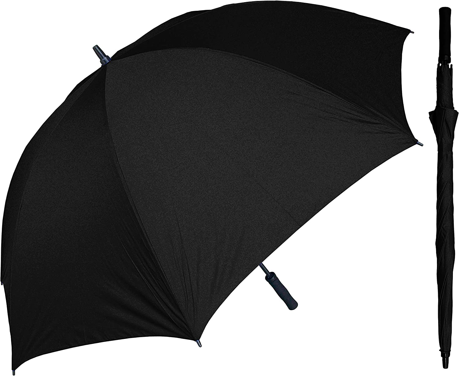 Details about  /Wooden Long Handle Umbrella Large Windproof Non Automatic Waterproof Sun Parasol