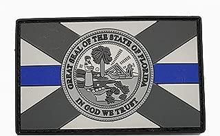 Stevens Tactical Shop Subdued Thin Blue Line Florida State Flag PVC Patch