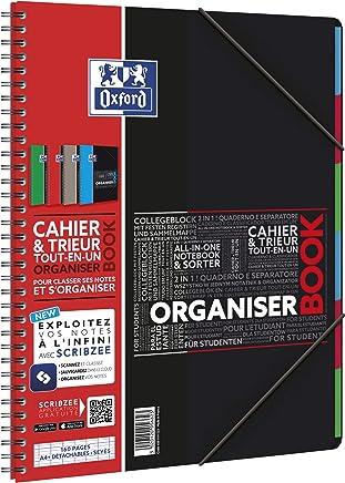 Oxford 39679 Cahier Spirale Organiser Book Optik Paper Couverture Polypropylène A4 210 x 320mm Papier Vert
