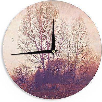 12-Inch Kess InHouse Monika Strigel Frozen White Wall Clock