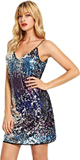 Women's Sleeveless Fit and Flare Loose Party Clubwear Dress