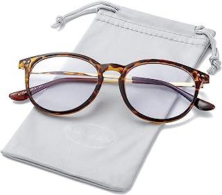 Non Prescription Clear Lens Fake Glasses for Women Men Retro Round Metal Frame Eyeglasses