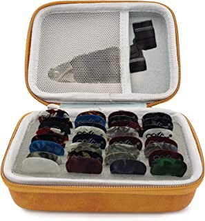 Guitar Pick Holder Case PU Leather Guitar Pick box Holder Organizer Bag Music Gift for Acoustic Electric Bass Guitar Ukule...