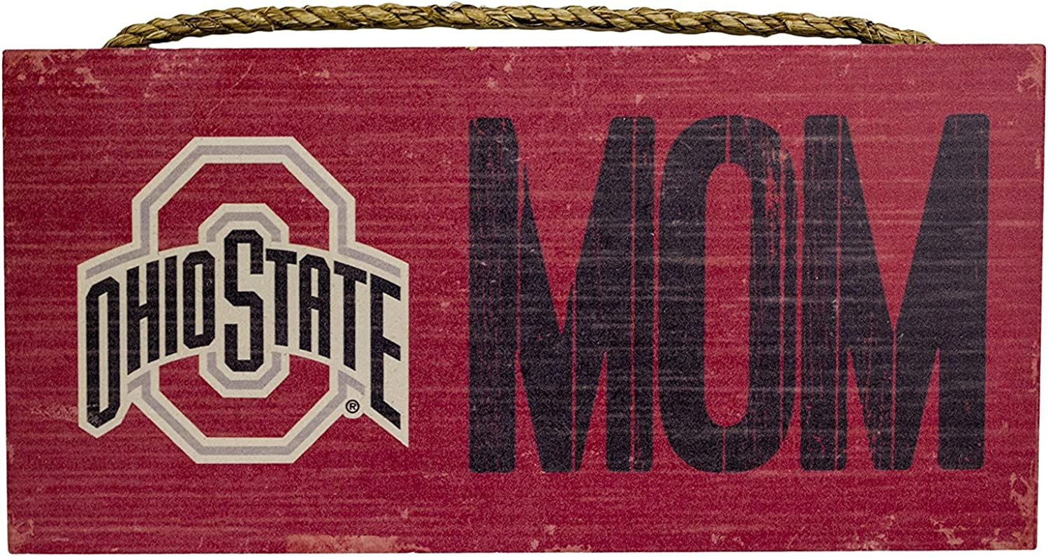 Fan Creations Ohio State Buckeyes Mom Sign Wooden Sign